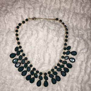 Hunter Green & Gold Statement Necklace